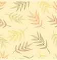 seamless pattern of autumnal ashberry leaves vector image