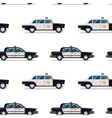 seamless pattern of police cars vector image vector image