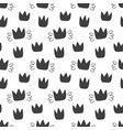 seamless pattern with hand drawn crowns isolated vector image