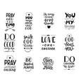 set 12 hand lettering christian quotesyou vector image vector image