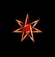 seven point star or septagram known as heptagram vector image vector image