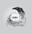 silhouette of a crow from particles vector image