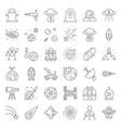 space exploration icon set outline design vector image