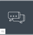 speech bubble related line icon vector image vector image