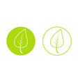 spring time year icon young growing green vector image vector image