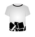 T Shirt Template- Polaroid Collage vector image vector image