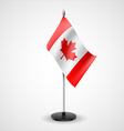 Table flag of Canada vector image vector image