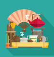 tea ceremony flat vector image vector image