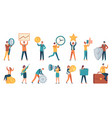 tiny business people employee women and men with vector image