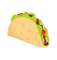 traditional taco isolated on white background vector image vector image