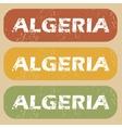 Vintage Algeria stamp set vector image vector image