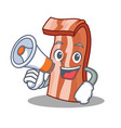 with megaphone bacon character cartoon style vector image vector image