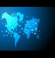 world map cyber digital bigdata online system vector image