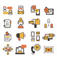 communication network contact and media business vector image