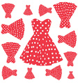 vintage dress pattern vector image