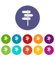 direction signs set icons vector image