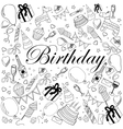 Birthday coloring book vector image