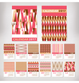 2017 year stylish calendar vector image vector image