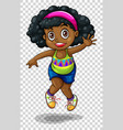 african american girl jumping vector image vector image