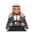 arab businessman driving a car arab man clothing vector image