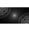 Banner with round abstract ornament vector image vector image