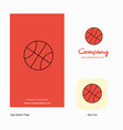 basket ball company logo app icon and splash page vector image vector image