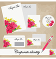 Beautiful corporate set vector image vector image