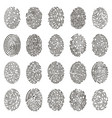 biometric fingerprints human grunge individual vector image vector image