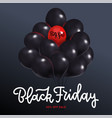 black friday sale square poster with dark shiny vector image vector image