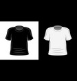 blank t-shirts white and black templates vector image vector image