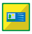 bright with cinema ticket vector image