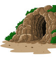 cartoon cave isolated on white background vector image