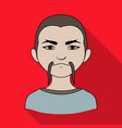 chinesehuman race single icon in flat style vector image vector image