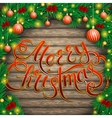 Christmas background of boards in an arch fir vector image vector image