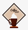 coffee shop cream espresso cream vector image vector image