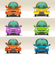 Colorful cartoon cars front view vector image