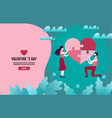 couples together create heart-shaped puzzles vector image