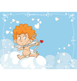 Cupid Shooting Love Arrows Cartoon vector image vector image