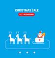 cute santa claus new year christmas holiday vector image vector image