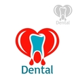 Dentistry or stomatology icon or emblem vector image vector image