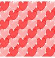 Design seamless doodle heart pattern vector image