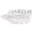 distance word cloud concept vector image vector image