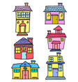 doodle of house set various vector image vector image
