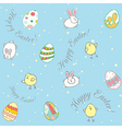 easter Background pattern vector image
