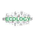 ecology concept with icons and signs vector image vector image
