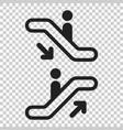 escalator elevator icon on isolated transparent vector image