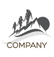 family camping logo vector image vector image