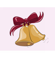 First bell call background vector image vector image