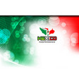 flag color mexican vector image vector image