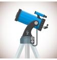 flat catadioptric telescope vector image
